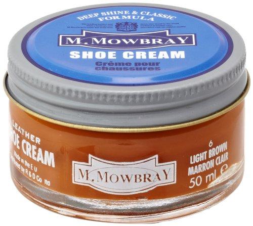 [M.モゥブレィ] シューケア 靴磨き 栄養 保革 補色 ツヤ出しクリーム シュークリームジャー ライトブラウン 50ml