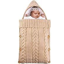 Fascigirl Manta Swaddle Tejida Saco De Dormir Suave Para Bebé De Felpa Abrigo Cálido Para Dormir Para Bebés Swaddle Para Bebés Saco De Dormir Para Recién Nacidos
