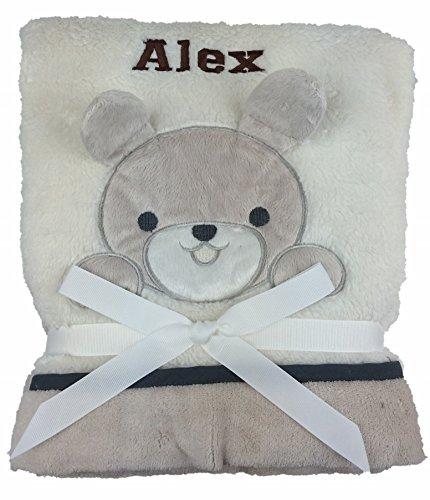 personnalisé Deluxe Chiot sur Crème Couverture – Couverture pour bébé. Luxe Wrap. Beau Cadeau bébé.