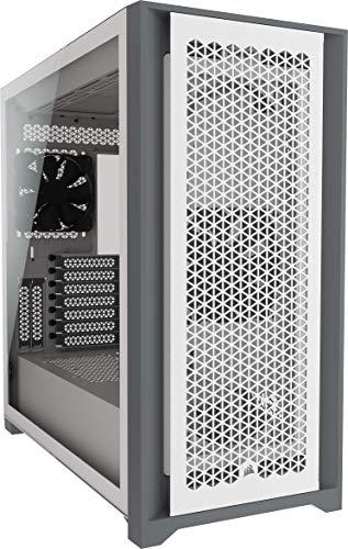 Corsair 5000D Airflow Mid-Tower-ATX-PC-Gehäuse mit Gehärtetem Glas (Frontverkleidung für Hohen Luftdurchsatz, RapidRoute-Kabelführungssystem, Zwei Enthaltene 120-mm-Lüfter) Weiß