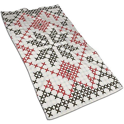Ukrainian Ethnic ornament - kruissteek microvezel handdoek handdoek 27,5 x 17,5 inch