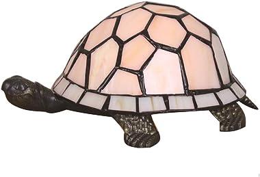 Lampe de table européenne créative tortue multicolore tortue Cuckold lampe de nuit pour enfants - blanc