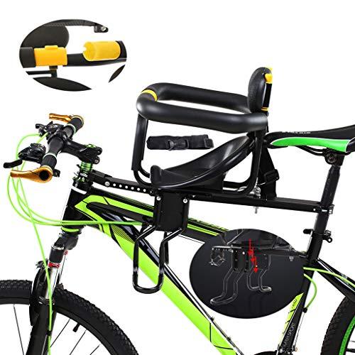 SJASD Ultraleichter Baby Fahrrad Vordersitz, Kinder Fahrradsitz Vorne Lenker Damenrad 6 Jahre, Einstellbar Kindersitz Pedal Für Mountainbikes Hybridbikes Und Fitnessbikes