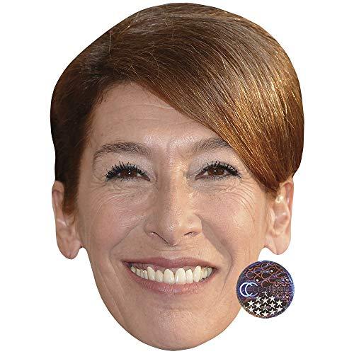 Celebrity Cutouts Adele Neuhauser (Smile) Maske aus Karton