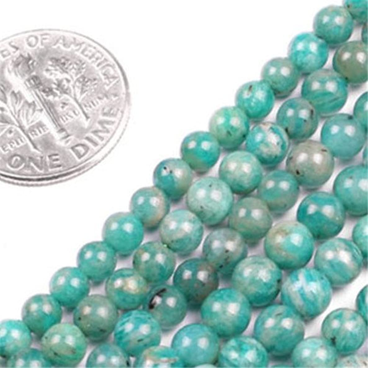 GEM-insid Russian Amazonite Gemstone Loose Beads Natural Energy Power Beads For Jewelry Making 4mm Round 15