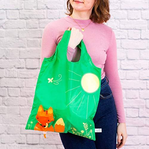 Tasche Shopping Stofftasche Beuteltasche Fuchs 36x55cm