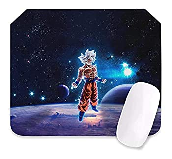 Dragon Ball Z Mouse Pad Anime Gaming Mouse Pad 10.6X12.6X0.2 Inch Edges Waterproof Mousepad Ideal for Desk Cover PC and Laptop-Dbz-3-one Size