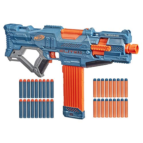 Nerf Elite 2.0 Turbine CS-18 motorisierter Blaster, 36 Nerf Darts, 18-Dart Clip-Magazin, Tactical Rails,...