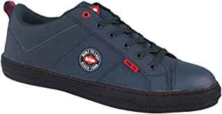 Lee Cooper Unisex Workwear SB/SRA Retro Steel-Toe Shoe Work Safety Footwear Navy 5.5 UK