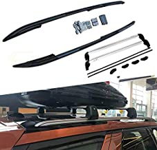 Kingcher 4 PCS Black Roof Rails & Crossbars Fit for Land Rover Discovery 5 LR5 2017 2018 2019 Rack Bars Baggage Luggage