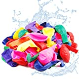Yisscen Globos de agua, globos de bomba de agua de 1000 piezas, globo multicolor, para fiesta de verano, globos de agua, relleno rápido de playa, con 5 tubos de llenado + 1000 bandas de goma