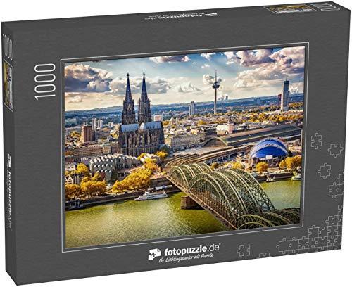 Puzzle 1000 Teile Luftaufnahme von Köln, Deutschland - Klassische Puzzle, 1000 / 200 / 2000 Teile, edle Motiv-Schachtel, Fotopuzzle-Kollektion 'Staedte'