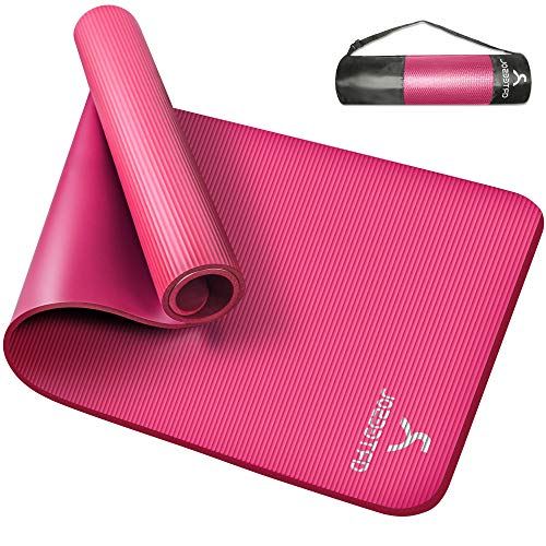 arteesol Yogamatte Non-Slip NBR Material Gymnastikmatte 185cm * 80cm * 1/1,5cm Fitnessmatte für Yoga Pilates Fitness Workout & Gymnastik Trainingsmatte (Rose, 185x80x1.5cm)