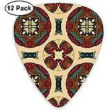 Paquet de 12 poule peinture cercle papier peint choix de guitare complète ensemble cadeau pour guitariste