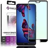 NALIA Schutzglas kompatibel mit Huawei P20 Pro, 3D Full-Cover Bildschirmschutz Hüllen-Kompatibel, 9H gehärtete Glas-Schutzfolie Handy-Folie Schutz-Film, Clear HD Screen Protector - Transparent (schwarz)