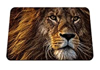 22cmx18cm マウスパッド (動物のライオンプレデターキングたてがみ銃口目) パターンカスタムの マウスパッド