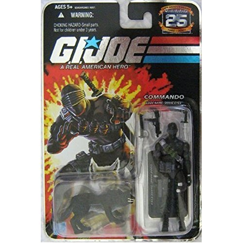 GI Joe 25th Anniversary Snake Eyes with Black Timber Variant