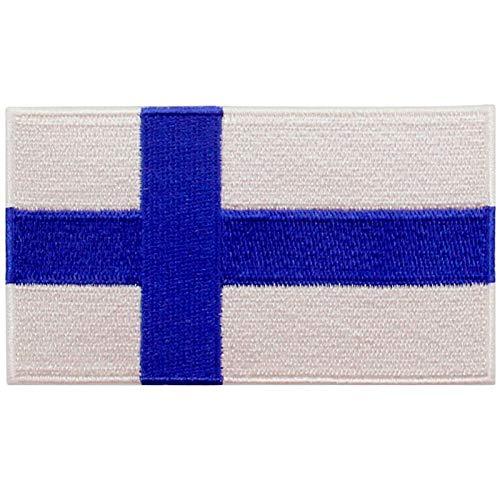 EmbTao Finnland Flagge Bestickter Aufnäher zum Aufbügeln/Annähen