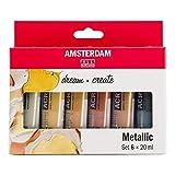 Talens AMSTERDAM - Juego de pinturas acrílicas metalizadas (6 x 20 ml)