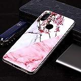 Funda telefónica para Xiaomi Funda de TPU Suave con patrón de mármol for Xiaomi Redmi S2 (Flor del Ciruelo) (Color : Plum Blossom)
