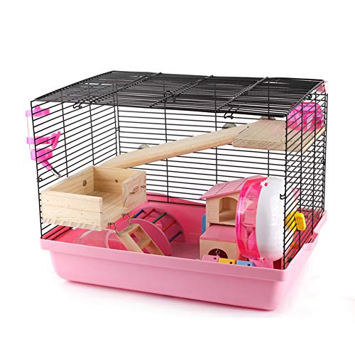 CSDY-Cage for Hamsters, Mice, Small Rodents Hamster Cage, Mouse House, Accessories Included, Plastic Frame and Bottom, 47 X 32 X 34 cm,G