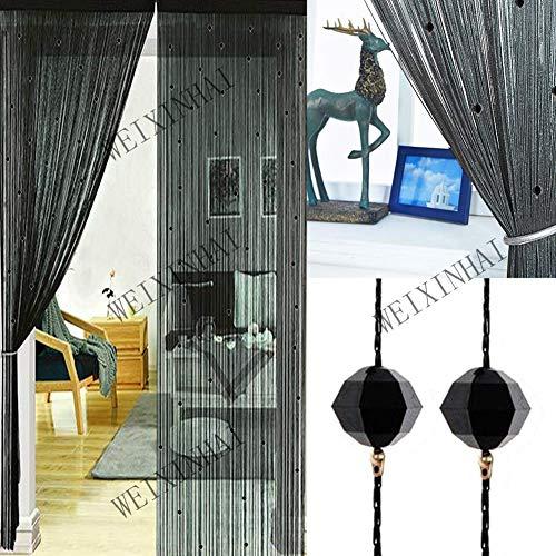 UNIAI Fadenvorhang Fadengardine Vorhang Perlenvorhang - Tür Perlen Vorhänge 100x200cm Raumteiler Anti-Moskito