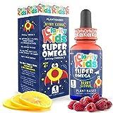 Super Omega for Kids (1 fl oz) with Vegan DHA + EPA that Tastes Great, Omega 3 Kids Need for More Focus & Quality Sleep, Algae Oil Omega 3 Liquid (1 mL), DHA Supplement for Kids, Omega 3 Oil for Kids