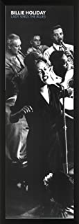 Billie Holiday Lady Sings The Blues Jazz Music Legend Celebrity Print (Framed 12x36 Poster)