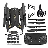 Naroote 【𝐁𝐥𝐚𝐜𝐤 𝐅𝐫𝐢𝐝𝐚𝒚 𝐋𝐨𝒘𝐞𝐬𝐭 𝐏𝐫𝐢𝐜𝐞】 RC Helicopter Plane Toys Remote Control Quadcopter, Portable Foldable Drone RC Drone, WiFi Adjustable Camera(Black, 5 Million WiFi)