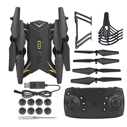 RC Drone, KY601S Faltbare RC WiFi Quadcopter Headless Drohne mit HD-Kamera(Black 5MP Camera)