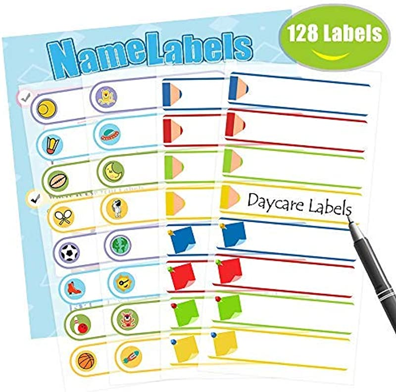 Baby Bottle Labels Waterproof Stickers Write On Self Laminating Name Labels For Daycare School Travel 128 Labels