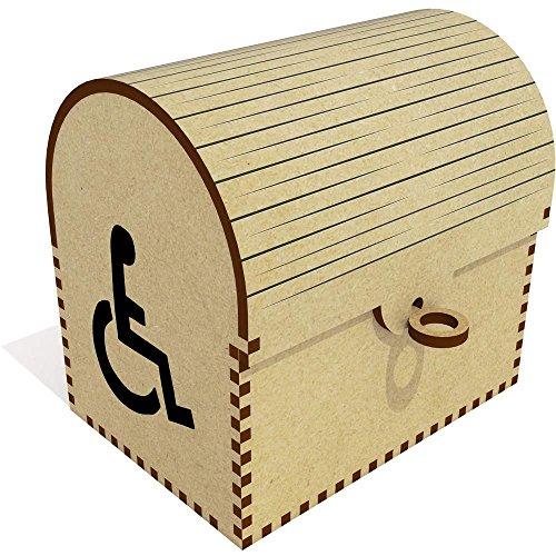 Azeeda 'Rollstuhl-Symbol' Schatztruhe / Schmuckschatulle (TC00014254)