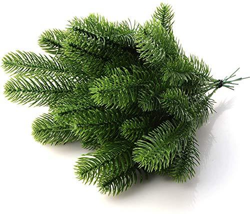 Warooma 30 stücke Künstliche Tannenzweige Gefälschte Tannenzweige Kiefernnadel Girlande DIY Handwerk Kranz für Weihnachten Verschönern Hausgarten Decor Requisiten