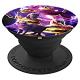 Galaxy Laser Cat On Burger - Space Cheeseburger Cats PopSockets Grip and Stand for Phones and...