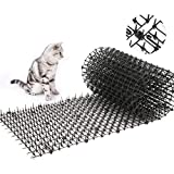 Toopify Garden Cat Scat Spike Mat, Anti-Cats Network Digging Stopper Prickle Strip Home Spike Deterrent Mat 78'x11'