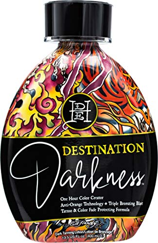 Ed Hardy Tanning Destination Darkness - One Hour Color Creator Anti-Orange Dark Tanning Lotion 13.5 oz.