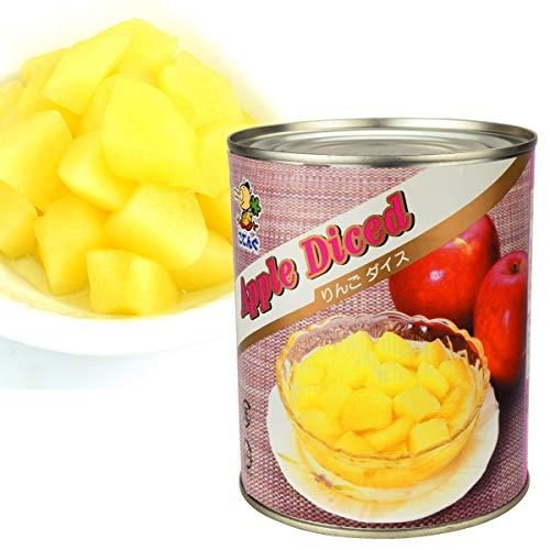 国華園 りんご (ダイス)・2号缶 1缶1組 (内容総量820g) りんご 缶詰