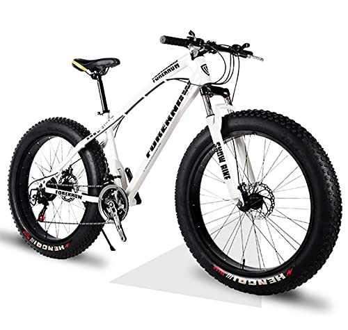 ASEDF Bike Bicicleta De Montaña para Hombres Y Mujeres, 26'bicis ,21/27 Velocidades White-26 21-Speed
