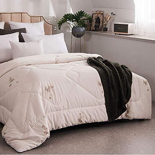Premium de Luxe Daunendecke 100% Baumwollgewebe Gesteppte Bettdecke Leichte Bettwäsche Bettdeckeneinsatz Hypoallergen-EIN_220 x 240 cm daunendecke Kinder 135x215