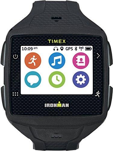 Timex TW5K88800F5 Ironman One GPS Watch, Full Size, Black/Gray