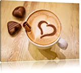 Kaffee Coffee Herz aus Schaum Cappucino Format: 60x40 cm