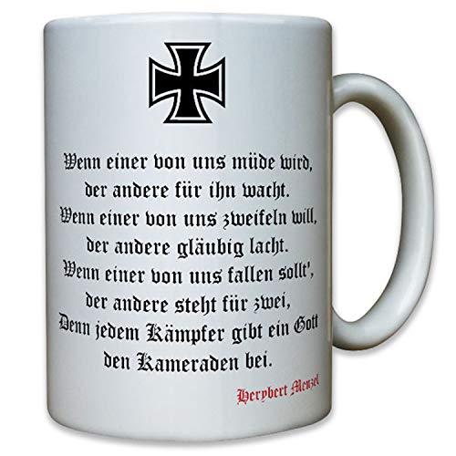 Lied vom Kameraden Soldaten Kameradschaft Bundeswehr Wh Herybert - Tasse #12392