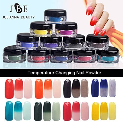 Gabcus 12 Colors Lot 1g Now free shipping Ranking TOP9 Color Thermal Tempe Thermochromic Change