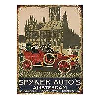 Spyker's Automobiles Amsterdam ティンサイン ポスター ン サイン プレート ブリキ看板 ホーム バーために