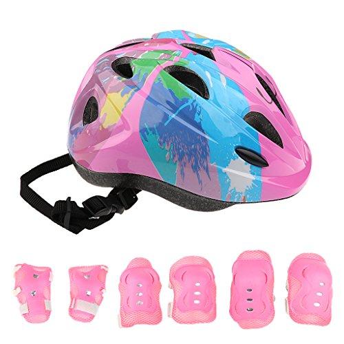 perfk Kids Adjustable Helmet Kne...