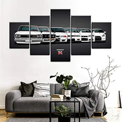 AYogg 5 Leinwanddrucke Leinwand Malerei Modular Print von modernen Kunstwerken 5 Stück Auto Bilder dekorative Home Wall Art Unique Poster