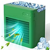 Portable Air Conditioner, 2000 mAh Personal Air Cooler Fan Evaporative Compact Rechargeable Mini AC Air Conditioner with 3 Speeds 7 Colors Night Light for Home, Office, Room, Camping Car