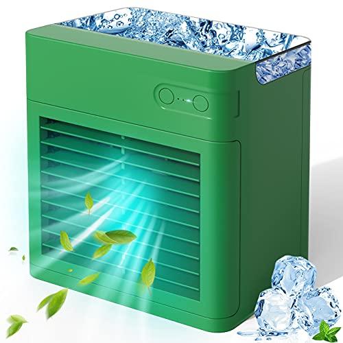Portable Air Conditioner, 2000 mAh Personal Air Cooler Fan Evaporative Compact...