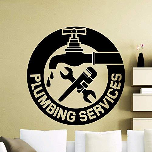 Servicio de reparación de grifos Tatuajes de pared Habitación para niños Dormitorio Sala de estar Decoración de la pared Adorno Pegatinas de pared top Vinyl 57X57CM