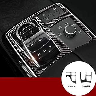 HOTRIMWORLD Carbon Fiber Center Console Gear Box Trim Cover for Mercedes-Benz GLE W166 Coupe C292 2015-2019 (Model B)